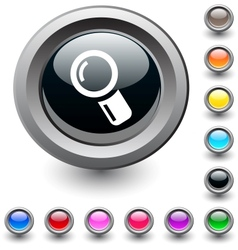 Zoom round button vector image vector image