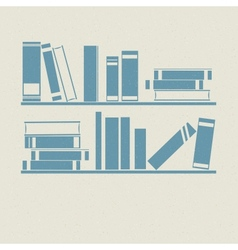 Bookshelf retro vector
