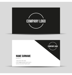 Modern black business card template vector