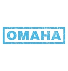 Omaha rubber stamp vector