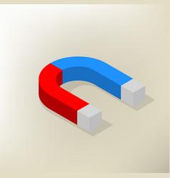Icon magnet isometric vector