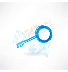 Key grunge icon vector