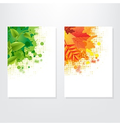 Set card wit leaf vector