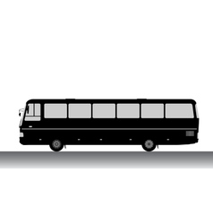 Bus silhouette on a white background vector