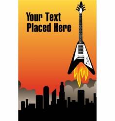 city rocket guitar vector image