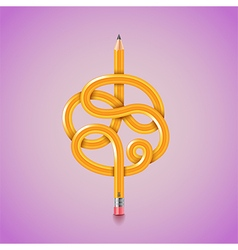 Tangled pencil background vector image