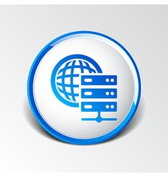Planet server icon symbol design workstation world vector
