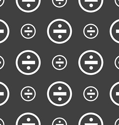 Dividing icon sign seamless pattern on a gray vector