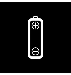 Battery icons on white background vector