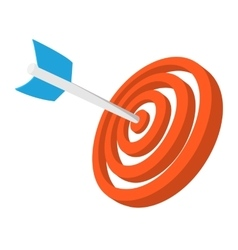 Target with dart cartoon icon vector