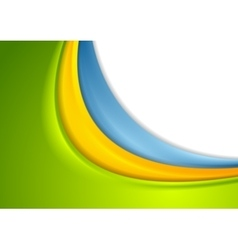 Abstract colorful smooth corporate waves vector