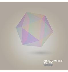 Abstract geometric 3d spectrum vector