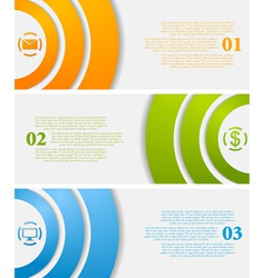 Abstract infographic tech banners vector image