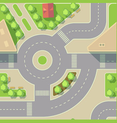 background road intercharge vector image