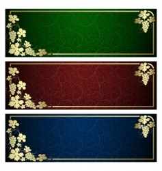 banner backgrounds vector image vector image