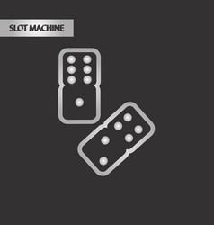 Black and white style dice lucky vector