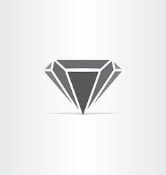 black diamond stylized icon vector image