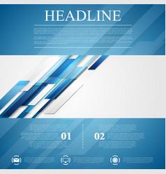 Blue shiny hi-tech flyer background vector image