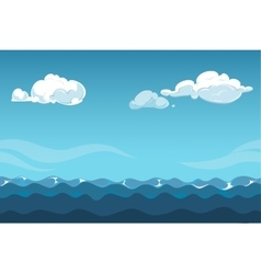 Blue sky over the sea background vector