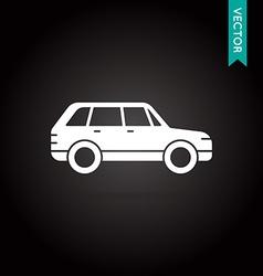 Car icon white on black vector