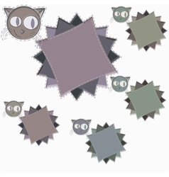 cat labels vector image vector image