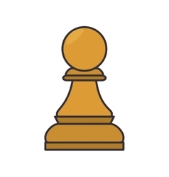 chess game piece icon vector image vector image