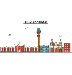 Chili santiago city skyline architecture vector