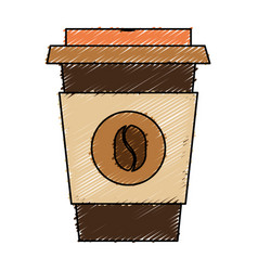 Coffee cup plastic isolated icon vector