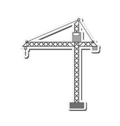 Crane plant industry design vector