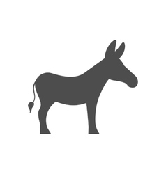 Donkey Silhouette Isolated on White Background vector image