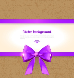 Elegant background with bow vector image