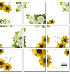 Geometrical mosaic pattern with flower image vector