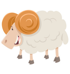 Happy ram animal character vector