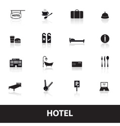 hotel and motel simple icons eps10 vector image