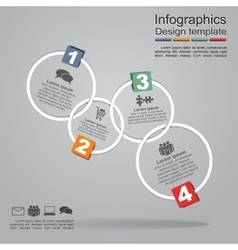 Infographic report template with frames and icons vector image