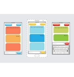 Message boxes for messaging on mobile phones vector image vector image