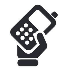 Phone handing icon vector