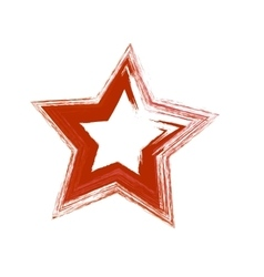 Red grunge star vector image
