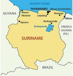 Republic of Suriname - map vector image vector image