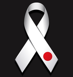 Ribbon for Japan vector image vector image