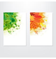 Set card wit leaf vector