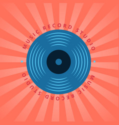 sound record studio vinyl music shop club vector image