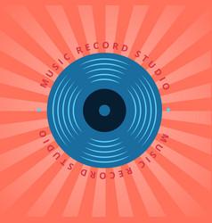 sound record studio vinyl music shop club vector image vector image