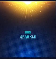 Sparkle sunbeam on halftone vector