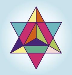 Star Tetrahedron vector image