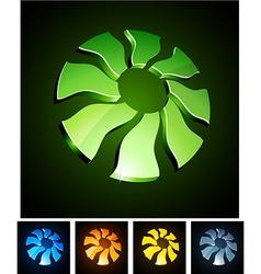 sun vibrant emblems vector image vector image