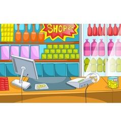 Supermarket Cartoon vector image