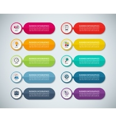 Templates for infographics vector image vector image