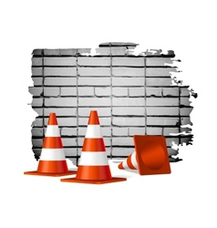 Under construction concept background vector image vector image