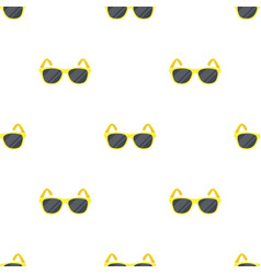 Yellow trendy sunglasses icon in cartoon style vector